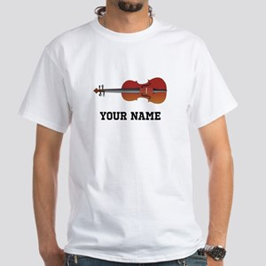 Personalized Violin White T-Shirt