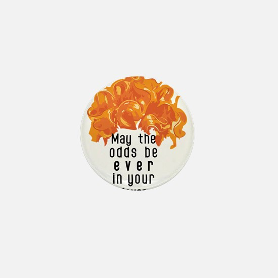 She's in a Pumpkin Orange Wig Mini Button