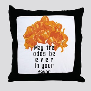 She's in a Pumpkin Orange Wig Throw Pillow