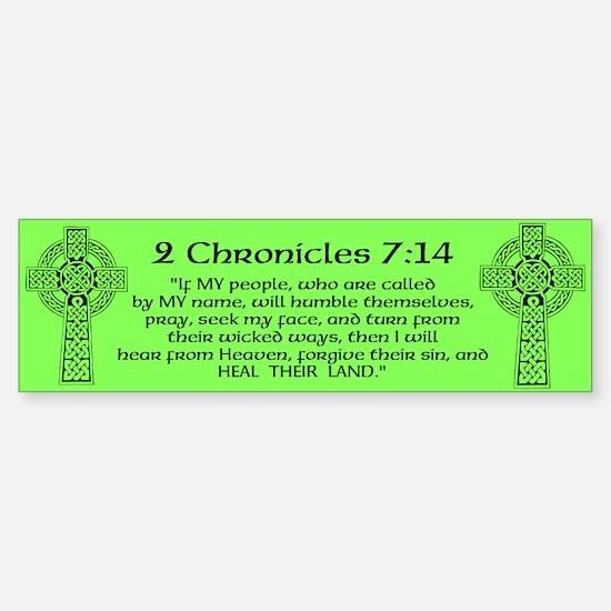 Celtic 2Chr 7:14 - Sticker (Bumper)