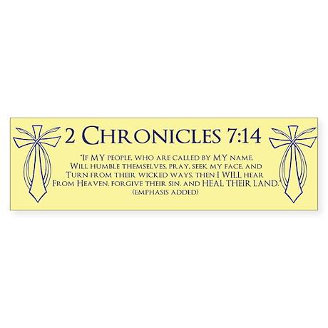 2 Chr 7:14 Cross Fish - Sticker (Bumper)