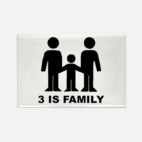 3 is family (first baby) Rectangle Magnet