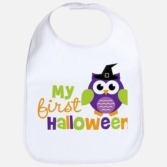 My First Halloween Owl Bib