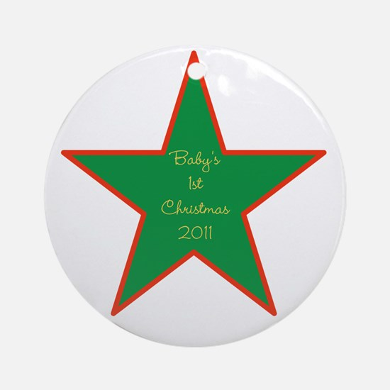 """Baby's 1st Christmas 2011"" Ornament"