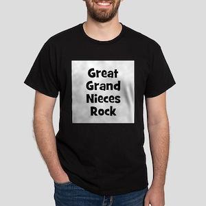 Great Grand Nieces Rock Black T-Shirt