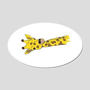 Giraffes 22x14 Oval Wall Peel