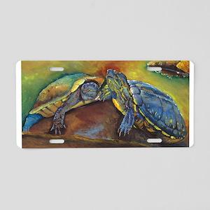 Turtles Aluminum License Plate