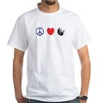 Peace Love Harmony - White T-Shirt