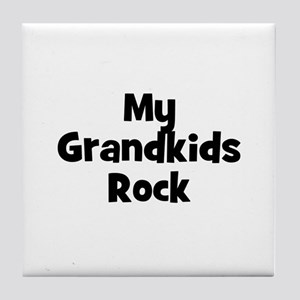 My Grandkids Rock Tile Coaster