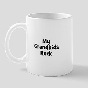 My Grandkids Rock Mug