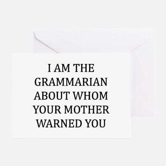 I Grammarian Greeting Card