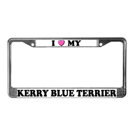 I Heart My Kerry Blue Terrier License Plate Frame