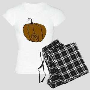 Fuzzy Pumpkin Women's Light Pajamas