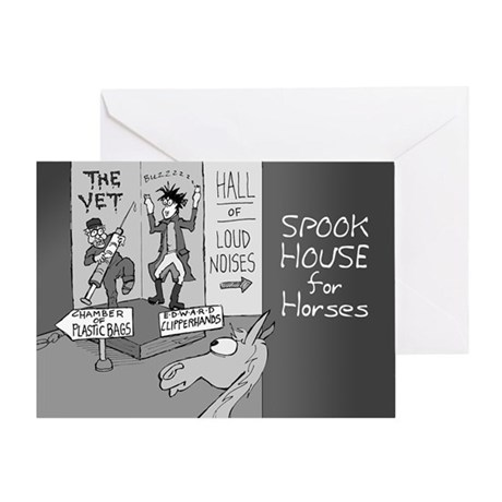 Near Side: Spook House - Greeting Card