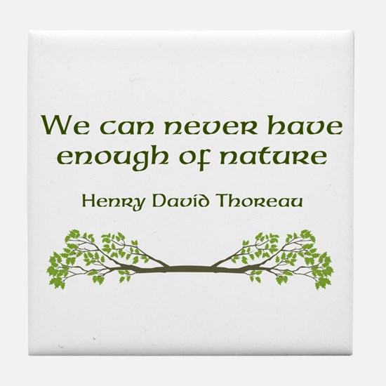 Thoreau Tile Coaster