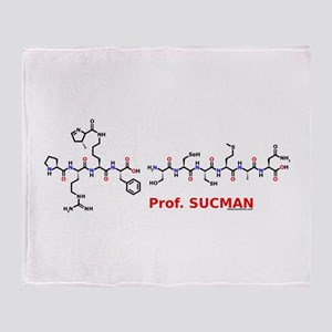 Prof. Sucman molecularshirts. Throw Blanket