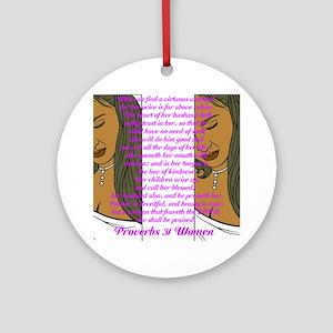 Proverbs 31 Women Ornament (Round)