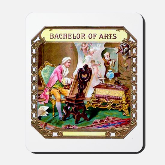 Bachelor of Arts Cigar Label Mousepad