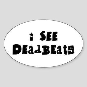 Deadbeats Oval Sticker