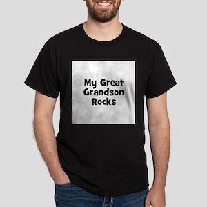 My Great Grandson Rocks Black T-Shirt