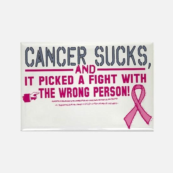 Cancer Sucks Rectangle Magnet