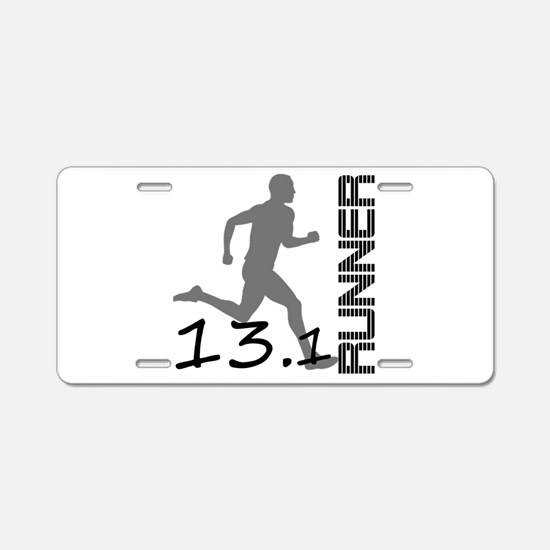Cute Running marathon Aluminum License Plate