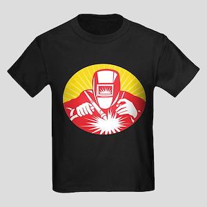 welder welding worker Kids Dark T-Shirt