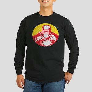 welder welding worker Long Sleeve Dark T-Shirt