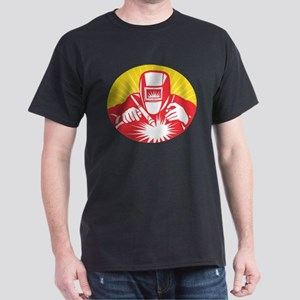 welder welding worker Dark T-Shirt