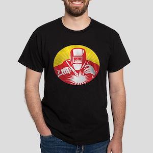 welder welding worker Dark T-Shirt