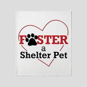 Foster a Shelter Pet Throw Blanket