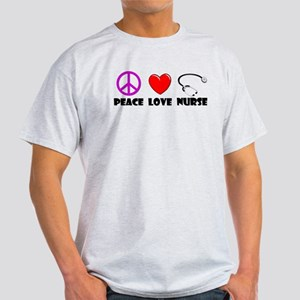 Peace Love Nurse Light T-Shirt