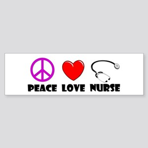 Peace Love Nurse Sticker (Bumper)