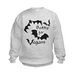 Batty for Vegans Kids Sweatshirt