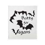 Batty for Vegans Throw Blanket
