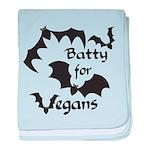 Batty for Vegans baby blanket