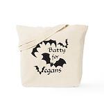 Batty for Vegans Tote Bag