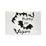 Batty for Vegans Rectangle Magnet (10 pack)
