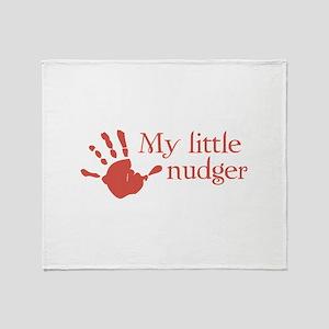 My little nudger Throw Blanket