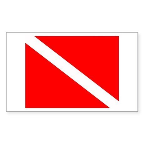 Dive Flag Rectangle Sticker