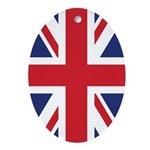 British Flag Ornament (Oval)