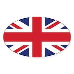 British Flag Sticker (Oval)