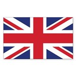 British Flag Sticker (Rectangle)