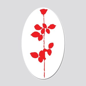 Depeche Mode Rose 20x12 Oval Wall Decal