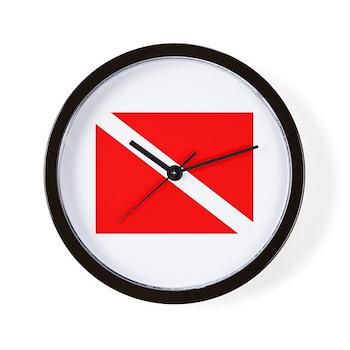 Dive Flag Wall Clock
