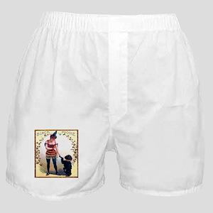 Black Poodle Cigar Label Boxer Shorts