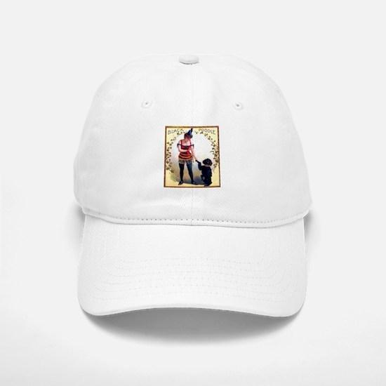 Black Poodle Cigar Label Baseball Baseball Cap