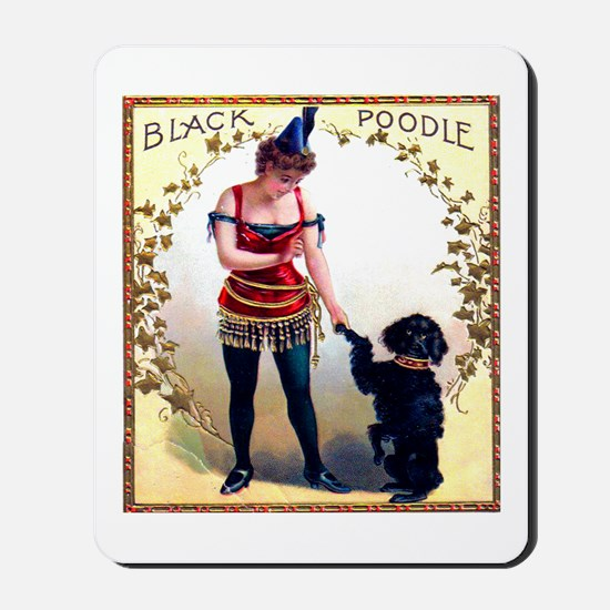 Black Poodle Cigar Label Mousepad