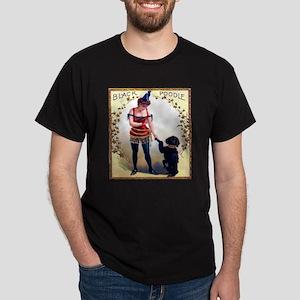 Black Poodle Cigar Label Dark T-Shirt