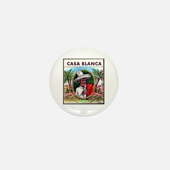 Casa Blanca Cigar Label Mini Button